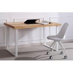 Mesa de estudio de madera de roble salvaje / blanca