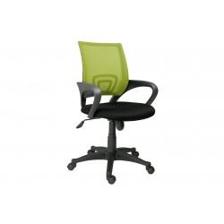 Silla de oficina giratoria, basculante y regulable en altura negro / verde