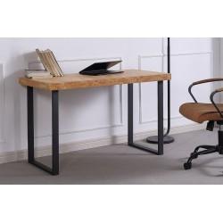 Mesa de estudio de madera de roble salvaje / negro