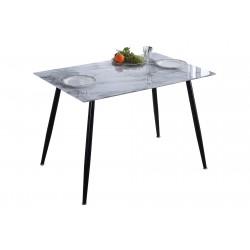 Mesa de comedor y cocina de cristal efecto marmol