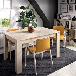 Mesa de comedor extensible Atlas natural