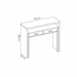 Consola escritorio extensible Bea Blanco
