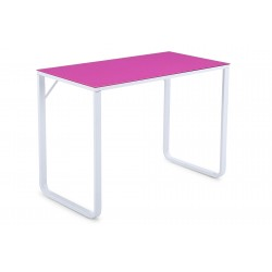 Mesa de estudio Mia cristal Rosa / Blanco