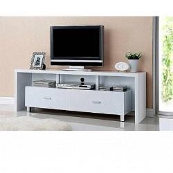 Mueble de televisión 2 cajones blanco