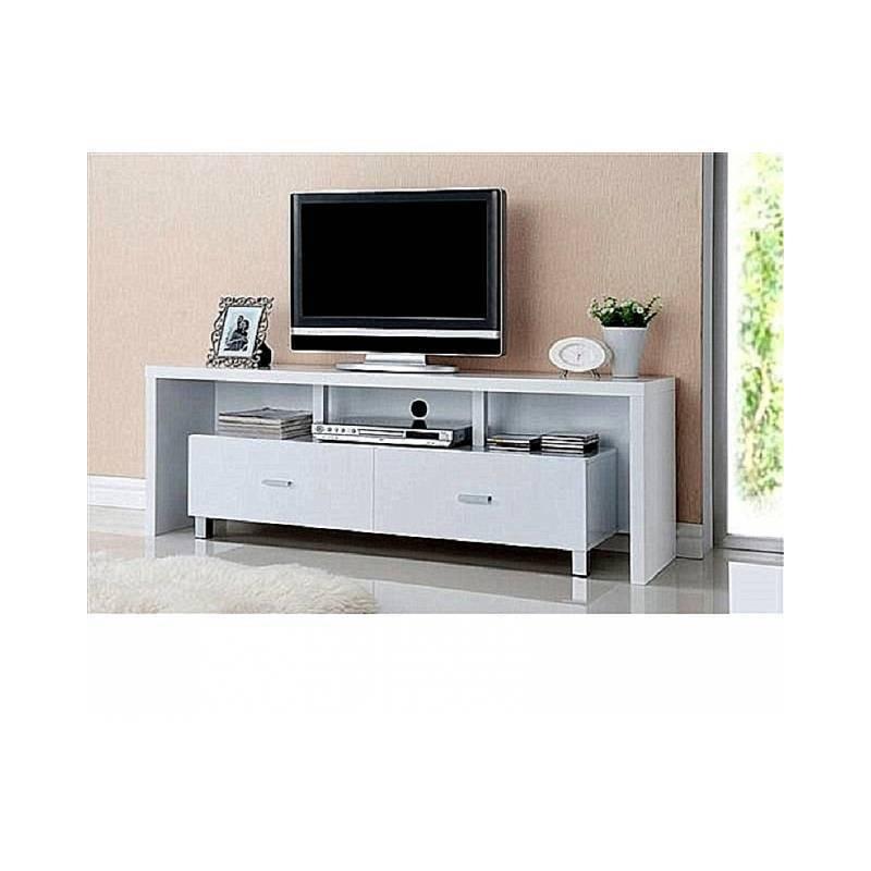 mesa de televisión 2 cajones  blanco