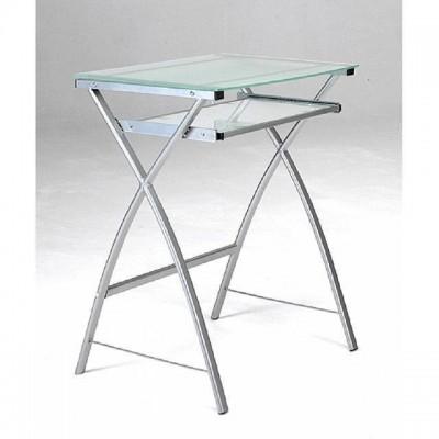 Mesa de ordenador barata y ligera - Mesas acero y cristal ...