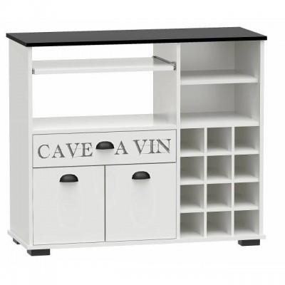 Mueble comedor botellero con dise o retro aparador barato for Muebles comedor blanco y gris