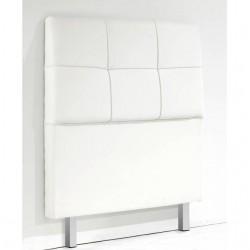 Cabecero blanco tapizado cama individual