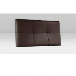 Cabecero para colgar individual tapizado marrón chocolate