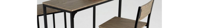 Mesas altas KOVE de diseño moderno en madera