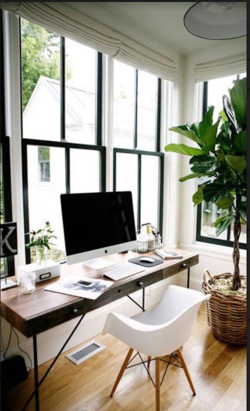 Habitación para teletrabajar por kitkay.com